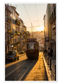 Póster  Tram in Lisbon, Portugal, Europe - Alex Treadway
