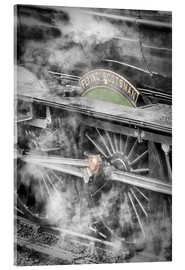Cuadro de metacrilato  The Flying Scotsman steam locomotive arriving at Goathland station on the North Yorkshire Moors Rail - John Potter