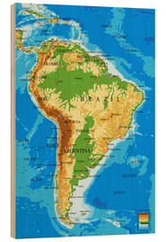 Madera  South America - Topographic Map