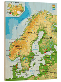 Madera  Scandinavia - Topographic Map