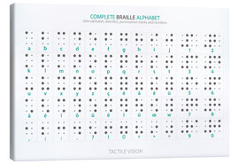 Lienzo  Braille - Alphabet - Typobox