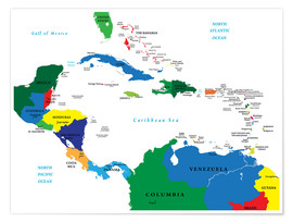 Póster Latin America - Political Map