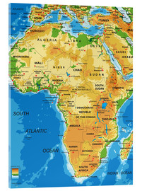 Metacrilato  Africa - Topographic Map