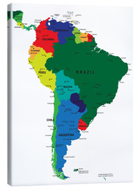 Lienzo  South America - Political Map