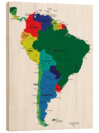 Madera  South America - Political Map