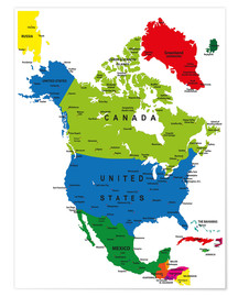 Póster North America - Political Map