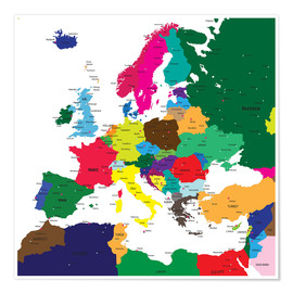 Póster Europe - Political Map