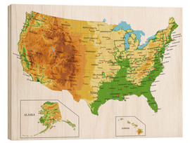 USA - Topographic Map