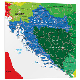 Forex  Croatia - Political Map