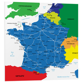 Cuadro de PVC  France - Political Map