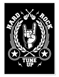 Póster  Hard rock - Durro Art