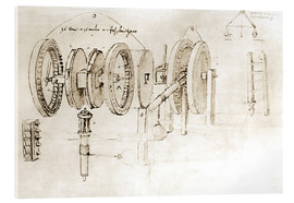 Cuadro de metacrilato  Mechanical design - Leonardo da Vinci