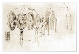 Póster  Mechanical design - Leonardo da Vinci