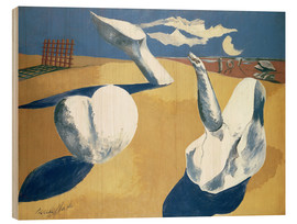 Cuadro de madera  Stranded figures into the sunset - Paul Nash