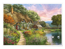 Póster 27692 Sunset Country Cottage