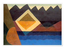 Póster  Square on the Pond - Arthur Garfield Dove