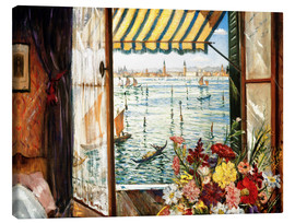 Lienzo  Looking out a window in Venice - Christopher Nevinson