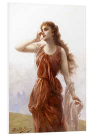Cuadro de PVC  A young red-clad woman with wistful look - Edouard Bisson