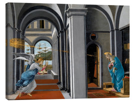Lienzo  The Annunciation - Sandro Botticelli