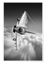 Póster  Typhoon Knife Edge mono - airpowerart