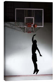 Lienzo  Silhouette of a basketball player