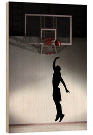 Madera  Silhouette of a basketball player