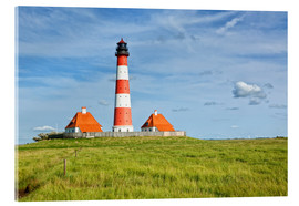 Cuadro de metacrilato  Westerhever Lighthouse at the North Sea coast