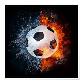 Póster  Football in the battle of the elements