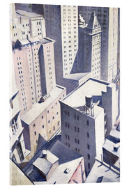 Cuadro de metacrilato  Looking Down on Downtown - Christopher Nevinson