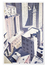 Póster  Looking Down on Downtown - Christopher Nevinson