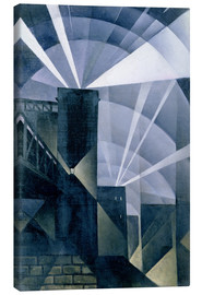 Lienzo  The First Searchlights at Charing Cross - Christopher Nevinson