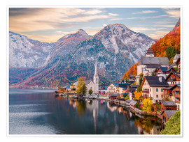 Póster  Hallstatt, Austria in the Autumn - Mike Clegg Photography