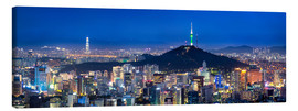 Lienzo  Seoul panorama at night overlooking Namsan and N Seoul Tower - Jan Christopher Becke
