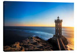 Lienzo  Lighthouse in Brittany - Frank Fischbach