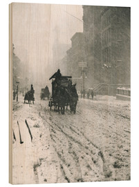 Cuadro de madera  Winter - Fifth Avenue - Alfred Stieglitz