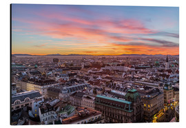 Cuadro de aluminio  Vienna Skyline at sunset, Austria - Mike Clegg Photography