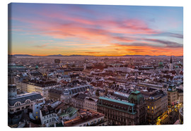 Lienzo  Vienna Skyline at sunset, Austria - Mike Clegg Photography