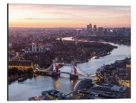 Cuadro de aluminio  Colourful sunsets in London - Mike Clegg Photography