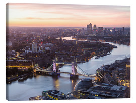 Lienzo  Colourful sunsets in London - Mike Clegg Photography