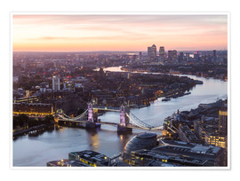 Póster  Colourful sunsets in London - Mike Clegg Photography