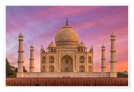 Póster  Taj Mahal, India - Mike Clegg Photography