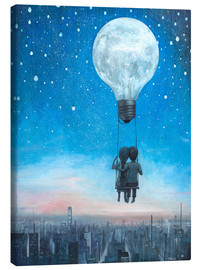 Lienzo  our love will light the night - Adrian Borda
