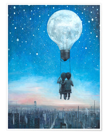 Póster  our love will light the night - Adrian Borda