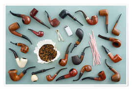 Póster  Collection of smoking pipes - Elisabeth Cölfen