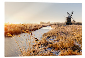 Cuadro de metacrilato  Windmill near Sande at cold winter morning - Reemt Peters-Hein