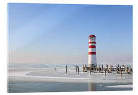Cuadro de metacrilato  Lighthouse on frozen Lake Neusiedl - Gerhard Wild