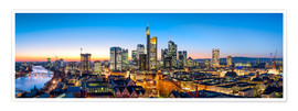 Póster  Skyline panorama from Frankfurt - Jan Christopher Becke