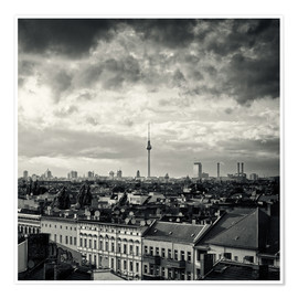 Póster Berlin - Roofscape