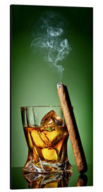 Aluminio-Dibond  Cigar on the rocks