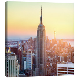 Lienzo  Empire State Building in New York City at sunset - Jan Christopher Becke